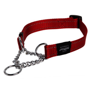 Obedience-Half-Check-Reflective-Stitching-HC-C-Red