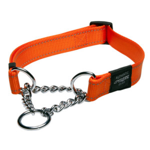 Obedience-Half-Check-Reflective-Stitching-HC-D-Orange