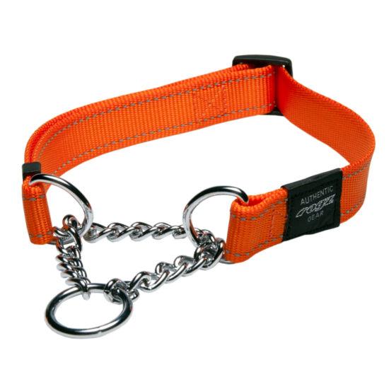 Obedience-Half-Check-Reflective-Stitching-HC-D-Orange