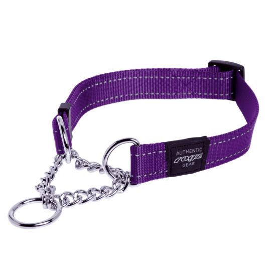Obedience-Half-Check-Reflective-Stitching-HC-E-Purple