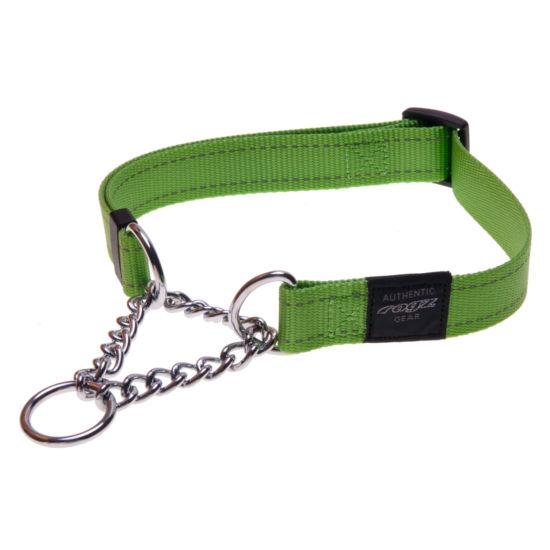 Obedience-Half-Check-Reflective-Stitching-HC-L-Lime