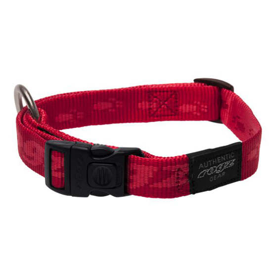 Side-Release-Collar-Soft-Webbing-HB-C-K2-Red