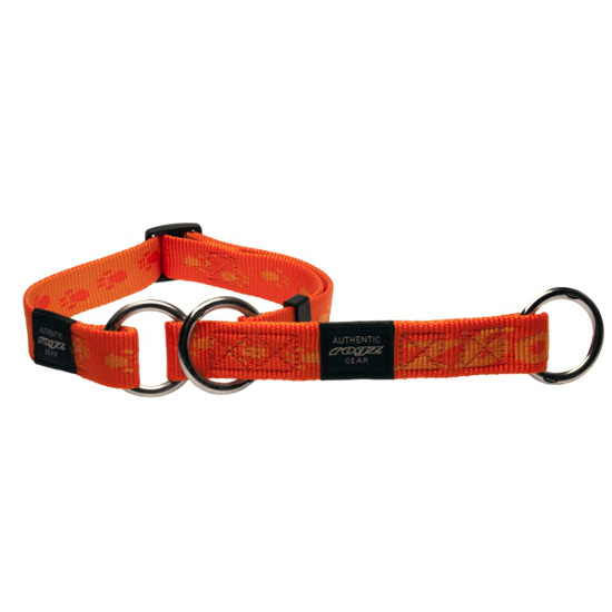 Collars-Web-Half-Check-Soft-Webbing-HBC-D-Orange