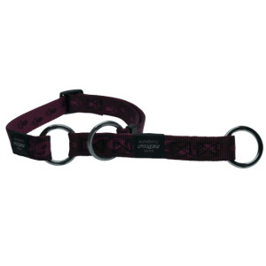 Collars-Web-Half-Check-Soft-Webbing-HBC-E-Purple