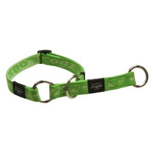 Collars-Web-Half-Check-Soft-Webbing-HBC-G-Green