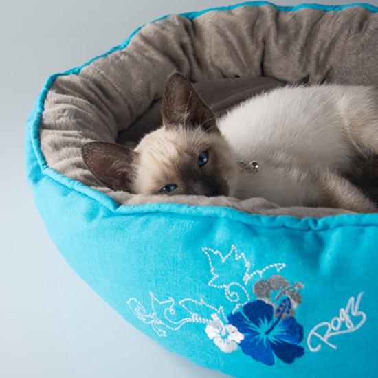 Cats-Beds-Snug-Podz-CP04-Blue-Floral-Cat