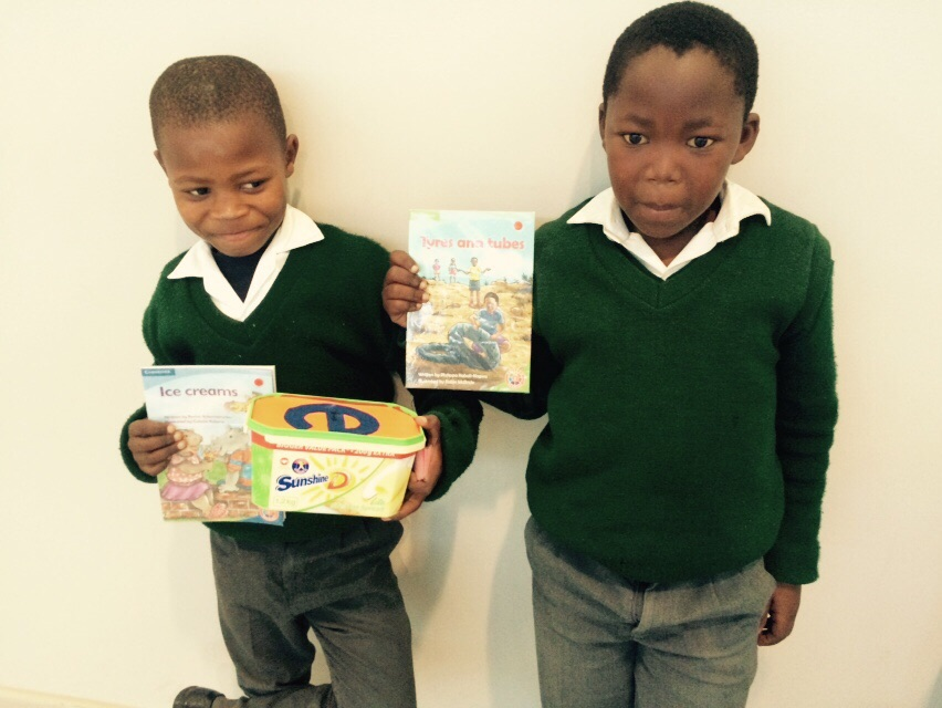 showing of their books and sound box